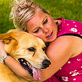 Woman And Dog. by Tibor Co