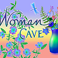 Woman Cave With Dragonfly by Teresa Ascone