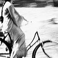 Woman Cycling by Jagdish Agarwal