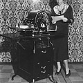 Woman Demonstrates Duplicator by Underwood Archives