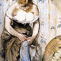 Woman Fastening Her Garter by Edouard Manet