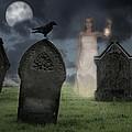 Woman Haunting Cemetery by Amanda Elwell