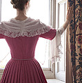 Woman In 18th Century Dress At The Window by Lee Avison