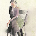Woman In A Cloche Hat Watercolor Fashion Illustration Art Print by Beverly Brown