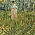 Woman In A Garden by Vincent van Gogh