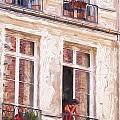 Woman In A Paris Window by Sheila Smart Fine Art Photography