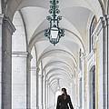 Woman In Archway  by Carlos Caetano