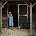 Woman In Cabin Doorway by Jill Battaglia