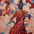 Woman In The Red Gown by Lee Ann Newsom