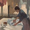 Woman Ironing by Georgia Fowler