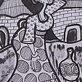 Woman Is Coming From The Farm With Firewood On Her Head by Okunade Olubayo