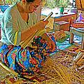 Woman Making Umbrella Ribs At Borsang Umbrella Factory In Chiang Mai-thailand by Ruth Hager