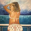 Woman On A Yacht by Diana Dzene
