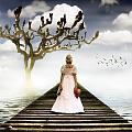 Woman On Pier by Joana Kruse