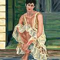 Woman On Porch by Joe Chicurel