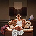 Woman On Sofa by Carlos Reales