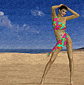 Woman On The Beach... by Tim Fillingim