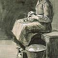 Woman Peeling Potatoes, 1882 by Vincent van Gogh