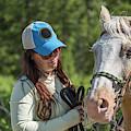 Woman Pets A Horse by Jess McGlothlin Media