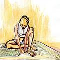 Woman Plaiting Mats In Rwanda by Emmanuel Baliyanga