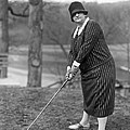 Woman Ready To Play Golf by Underwood Archives