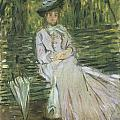 Woman Seated On A Bench by Claude Monet