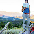 Woman Shows Off Her Mountain Drawing by Hannah Dewey