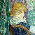 Woman Sitting In A Garden by Henri de Toulouse-lautrec