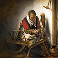 Woman Spinning by Nicolaes Maes