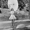 Woman Tightrope Walker by Underwood Archives