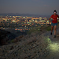 Woman Trail Running In South Mountain by HagePhoto