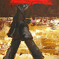 Woman Under A Red Umbrella by Patricia Awapara