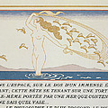 Woman Wading Through Water by Georges Barbier