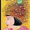 Woman With A Hat That Looks Like A Birds Nest