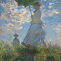 Woman With A Parasol Madame Monet And Her Son  by Georgia Fowler