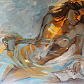 Woman With Book by Nelya Shenklyarska