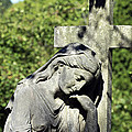 Woman With Cross Cave Hill Cemetery Louisville Kentucky Usa by Sally Rockefeller