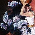 Woman With Flowers by Claudia Lardizabal