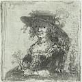 Woman With Hat, Print Maker Jan Chalon by Jan Chalon