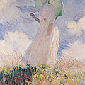 Woman With Parasol Turned To The Left by Claude Monet