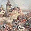 Women At The Siege Of Marseille by Albert Robida