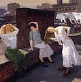 Women Drying Their Hair 1912 by Mountain Dreams