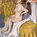 Women Having Her Hair Combed by Edgar Degas