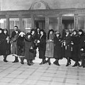 Women In A Bank by Underwood Archives