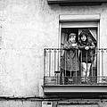 Women In Balcony by Pablo Lopez