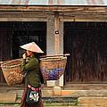 Women Market Walking On Street by Teerawut Punsorn