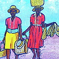 Women On Beach At Grenada by Frank Hunter