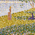 Women On The River Bank by Georges Pierre Seurat