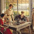 Women Taking Tea by Albert Lynch