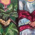 Women Wearing Shawls II by Aurorah Kelevh